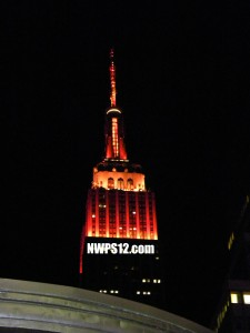 Having the Empire State Building lit up in orange did not make me a very happy Camper.  The Nation thinks the Bronco's will win.  Guess what?  They are wrong! Go Seahawks!
